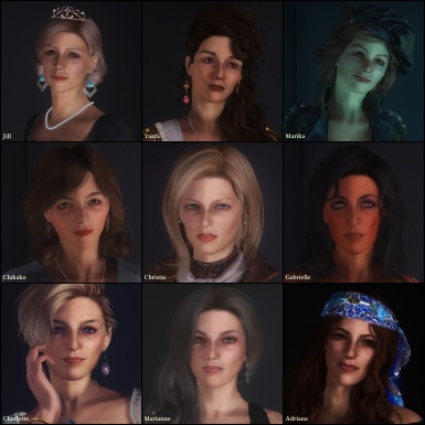 my 9 characters with Christie updated