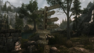 Riverwood Road Sign