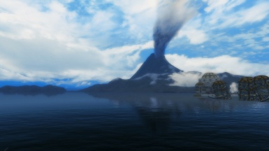 Solstheim sea and red mountain