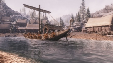 Dawnstar with a boat and water