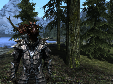 Argonian in the woods