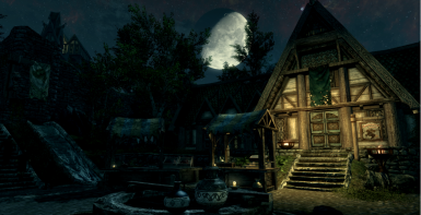 Moon over Whiterun