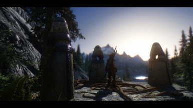 Guardian Stones at the Sunset