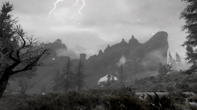 Stormy evening near Solitude