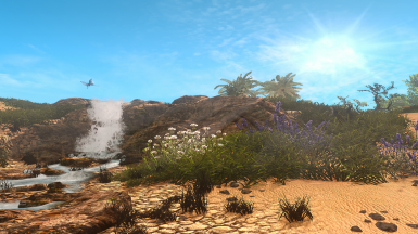 Waterfall  Tropical Skyrim ENB