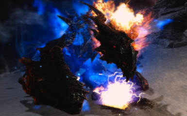Alduin on Fire