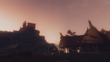 dawn over Whiterun