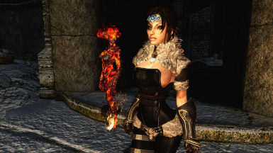 Victoria and her Flame Atronach