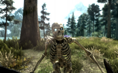 Skeleton Down by the Lake
