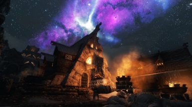 The Night sky at Windhelm
