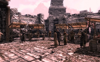 Windhelm Market with 3dnpc and Inconpc