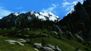 Far mountain in the clouds 3