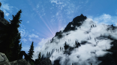 Far mountain in the clouds 5