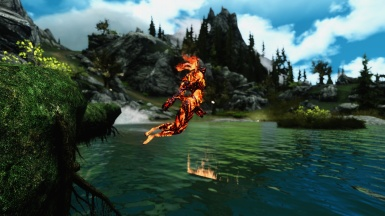Flame Atronach on the Water