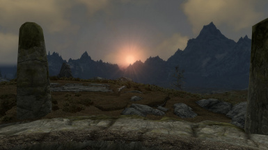 Sunrise beyond Witherun plains