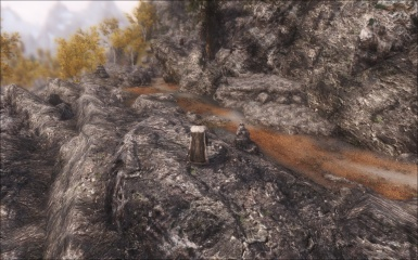 Skyrim Realistic Texture Overhaul Mountains and parallax