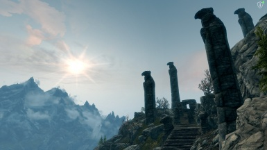 The ruins of old honor the sun