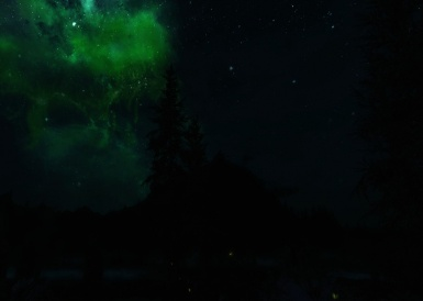 Green effect in the night