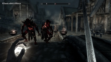 The falmer King and his army pillaging whiterun