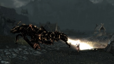 A Dragon unlike any other The Falmer King Rideable
