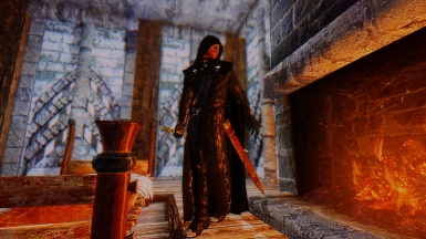 The Inquisitor warming up before the blistering cold adventure
