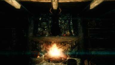 Come rest by the fireplace