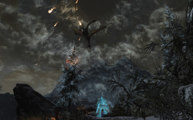 Dragon and Meteors