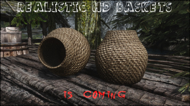 Skyrim Realistic HD Baskets is coming