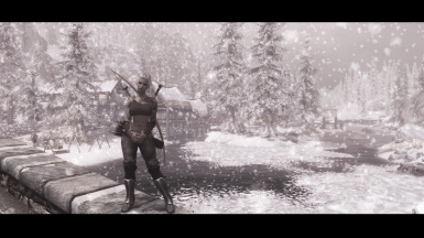 riverwood in the snow
