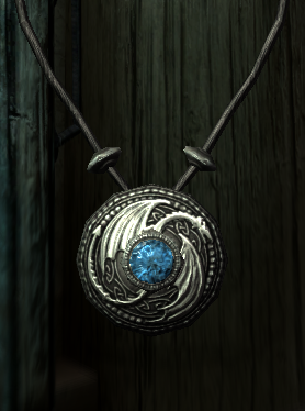 Dragon Amulet with Gem