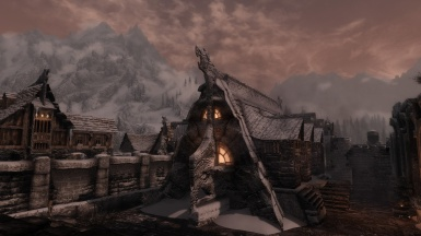 Sun goes down in Windhelm