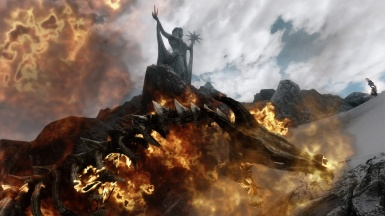 dragon in flames for azura