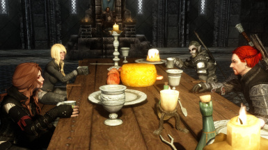 Jamie and friends are celebrating in jarls palace