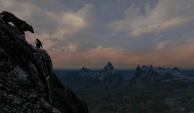 Cant stop admiring skyrim even if im just one step away from death 2