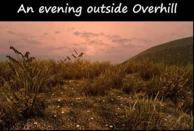 Evening On The Hills By Overhill