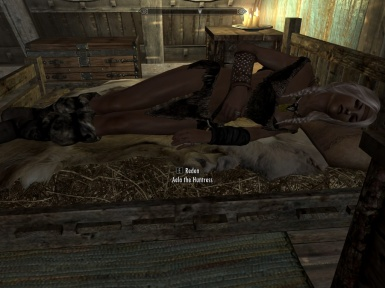 Aela takes a rest