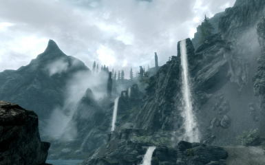 Waterfalls mountains and mist TK