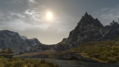 Mountains and Sun