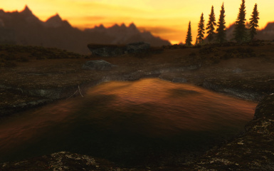 Evening in front of Whiterun