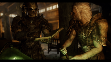 K'oren ''My Predator'' Socializing with Thadgeir in Dead man's Drink