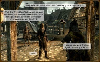 And the Guard said - Elven blade