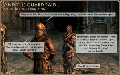 And the Guard said - Murdered the High King