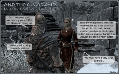 And the Guard said - Enchant my Sword