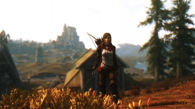Emma in front of Whiterun