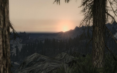 Sunrise And Solitude In The Distances