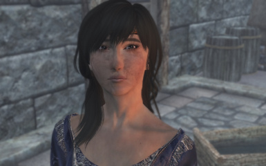 Recent adventures in Solstheim with a more Asian looking Vilja