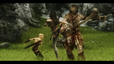 High kick in dat giant's face