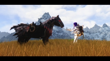 A girl and her undead horse