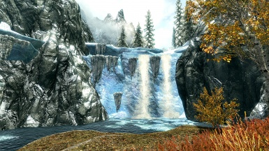 Waterfalls Near Fort Dawnguard