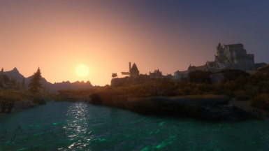 Sunset over Whiterun - Opethfeldt 7beta3